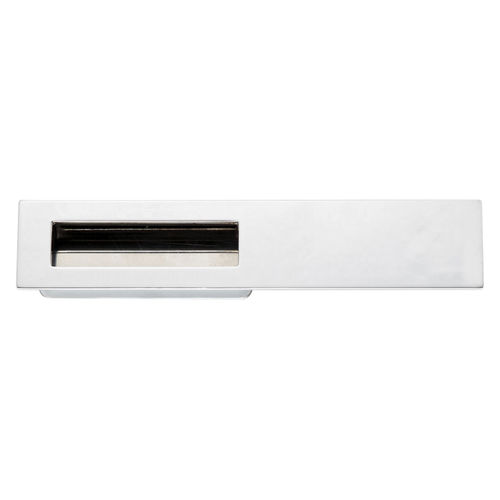 recessed pull handle / stainless steel / zamak / contemporary