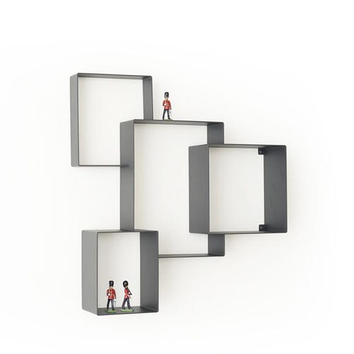 wall-mounted shelf / contemporary / steel