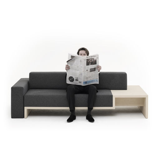 modular sofa / contemporary / fabric / plywood