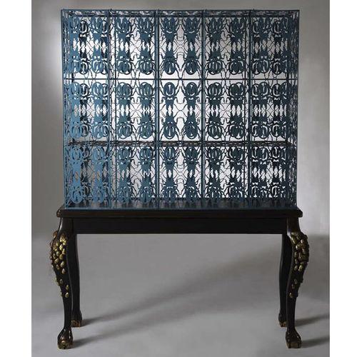 sideboard with long legs / original design / wooden / steel