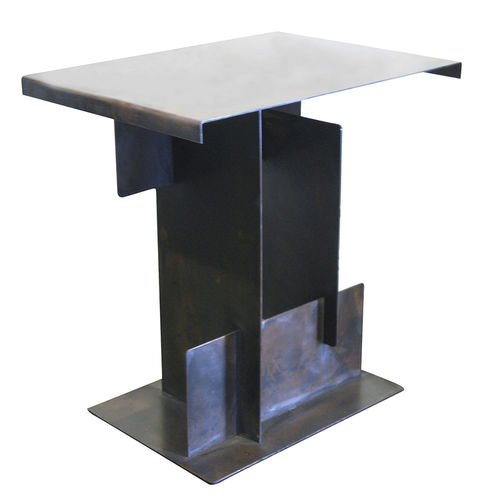 contemporary side table / steel / rectangular / contract