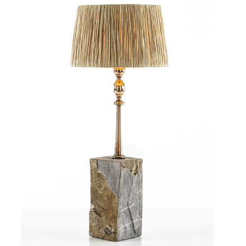 table lamp / original design / stone / copper