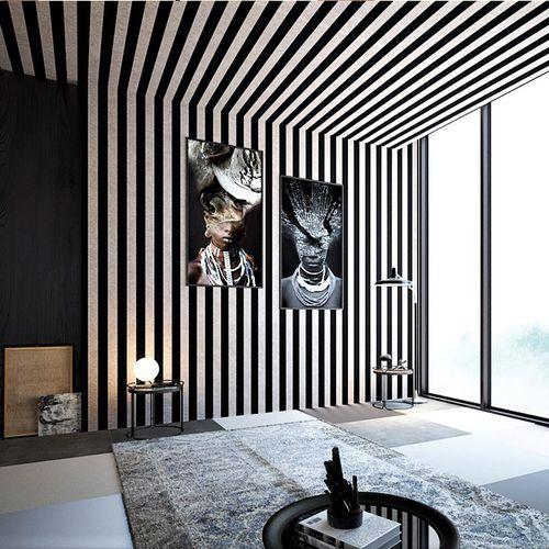 modern wallpaper / nonwoven fabric / vinyl / striped