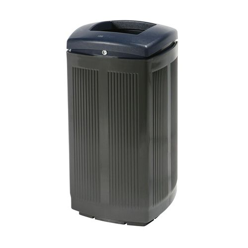 public trash can / polyethylene / contemporary