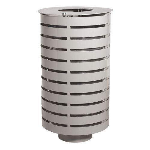 public trash can / sheet steel / galvanized steel / commercial