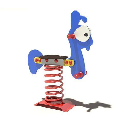 plastic spring rocker / steel / animals / 1-seat