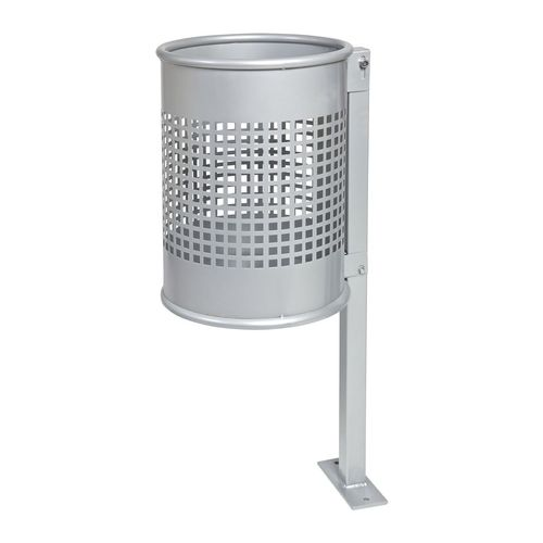 public trash can / sheet steel / contemporary