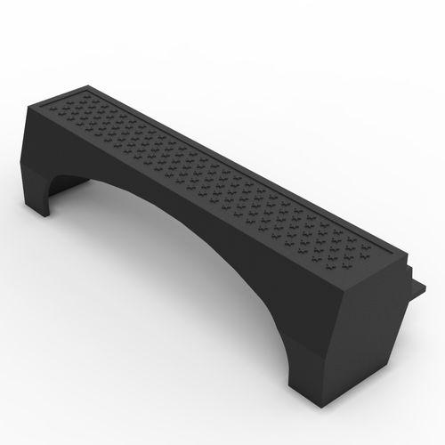 sidewalk edge / cast iron / rectangular / curved
