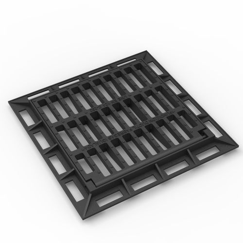 cast iron drain grate / for public spaces / for landscaping
