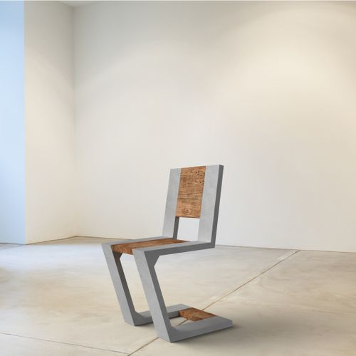 Contemporary chair / wooden / concrete / for public buildings GRAVITY by Jakub Sojka Modern Line