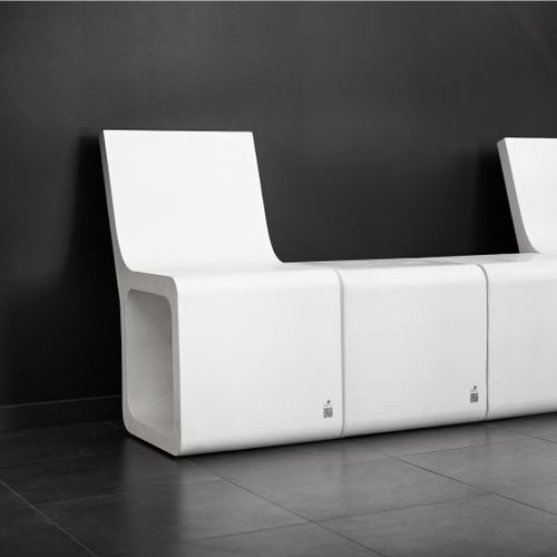 Contemporary chair / concrete / for public buildings / for public areas HARMONY Modern Line