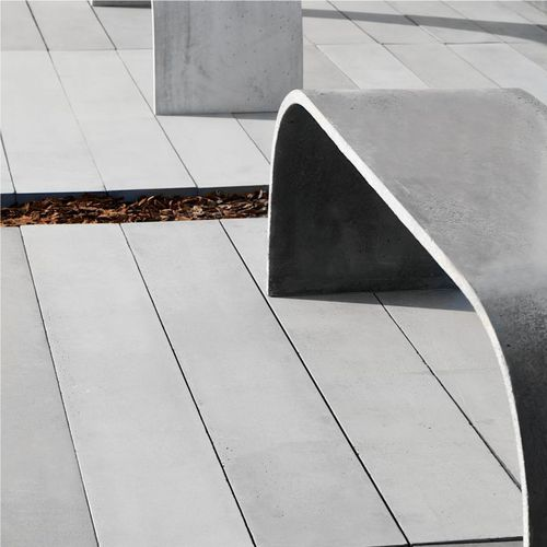 Concrete deck boards / water-repellent / commercial LONGER  Modern Line