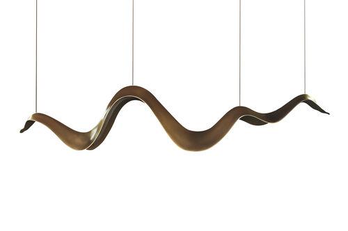 pendant lamp / original design / fiberglass / LED