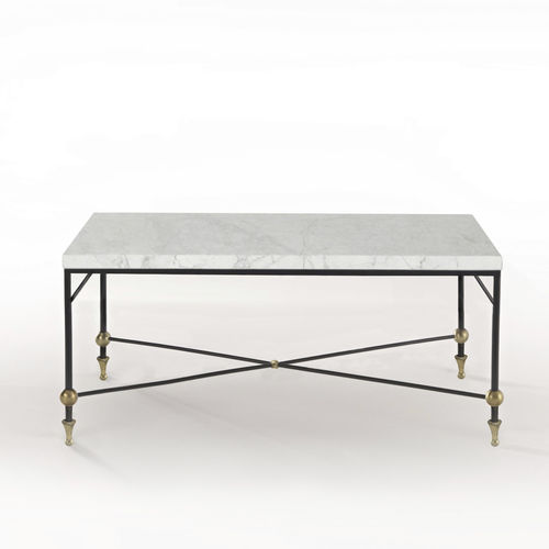 Traditional coffee table / glass / brass / iron BARON Mobilier De Style