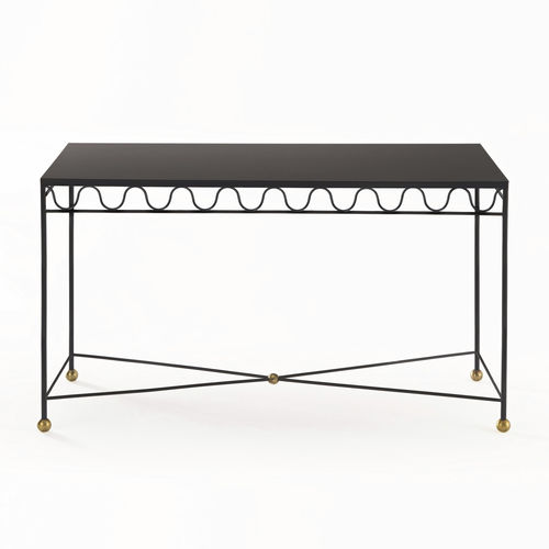 Traditional sideboard table / glass / brass / iron DUCHESSE Mobilier De Style