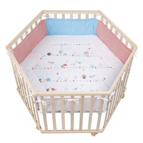 lacquered wood playpen