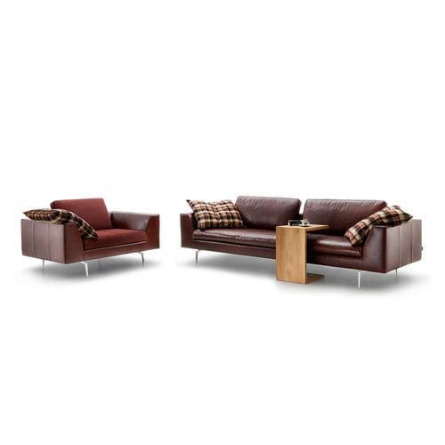 Corner sofa / contemporary / fabric / leather - SACRAMENTO - TM ...