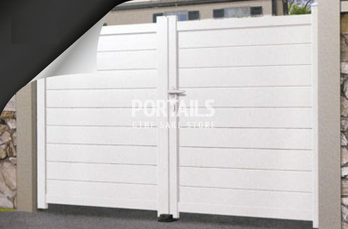 swing gate / aluminum / with panels / residential
