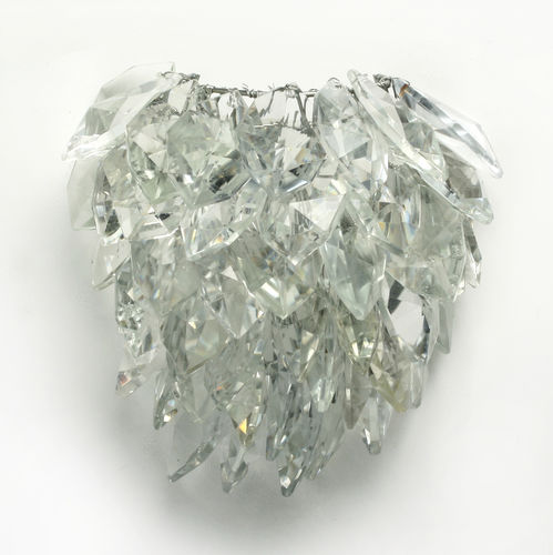 traditional wall light / crystal