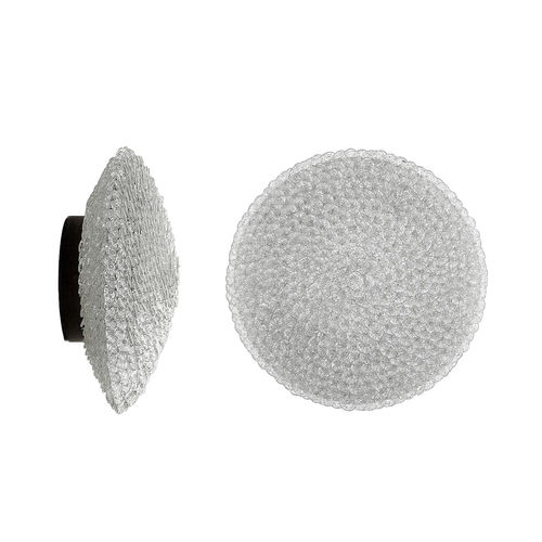 traditional wall light / glass / circular