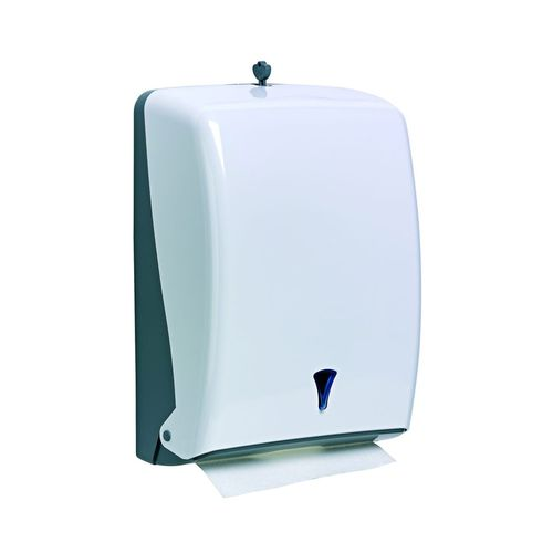 wall-mounted paper towel dispenser / in plastic