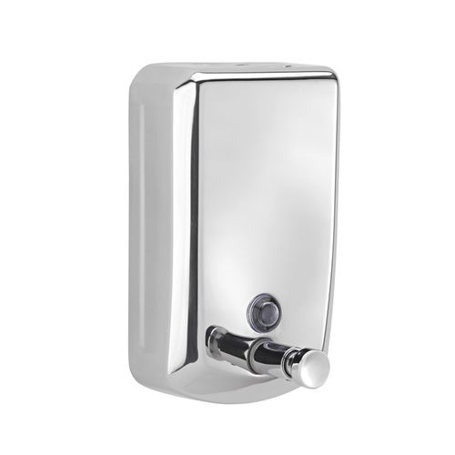 commercial soap dispenser / wall-mounted / stainless steel / manual