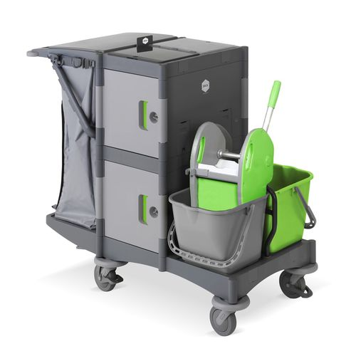 cleaning trolley / commercial / plastic
