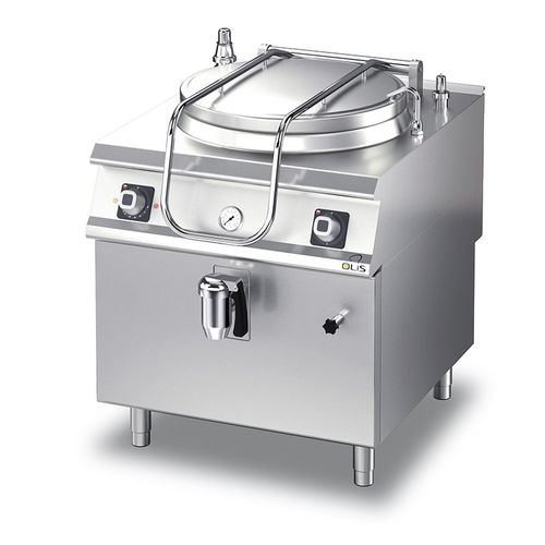 electric boiling pan / floor-mounted / commercial