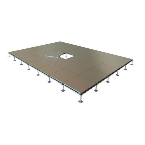 steel raised access floor support / high-resistance / indoor