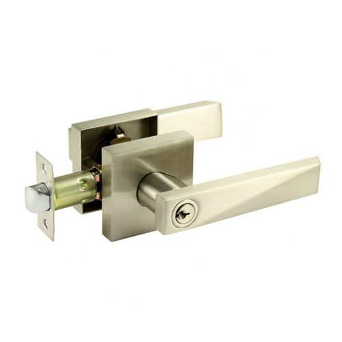 door handle / stainless steel / contemporary / with lock