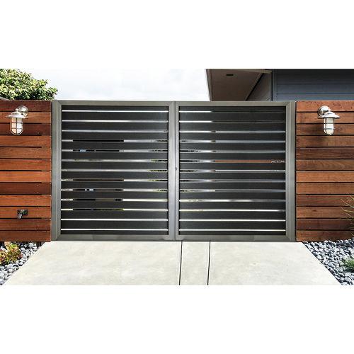 swing gate / sliding / aluminum / louvered