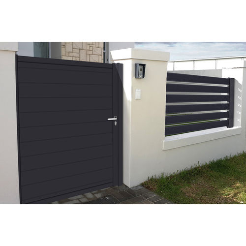 swing gate / sliding / aluminum / louvered