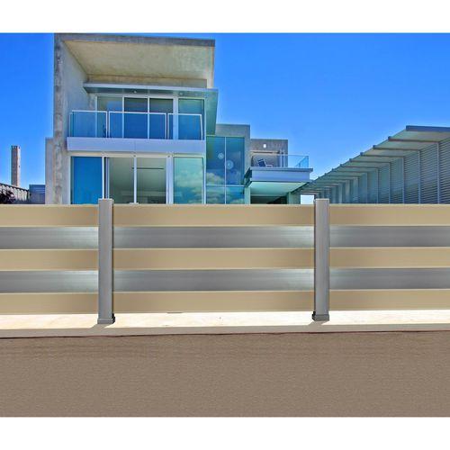garden fence / louvered / aluminum