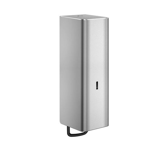 commercial soap dispenser / wall-mounted / aluminum / manual