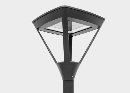 urban lamppost / contemporary / cast aluminum / with tempered glass diffuser