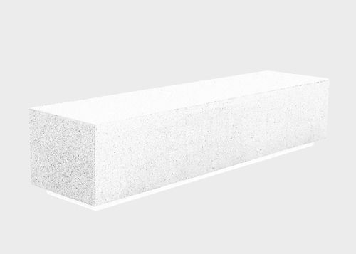 public bench / contemporary / concrete
