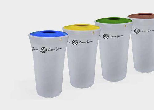 public trash can / polyethylene / contemporary / recycling