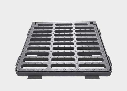 cast iron drain grate / for public spaces