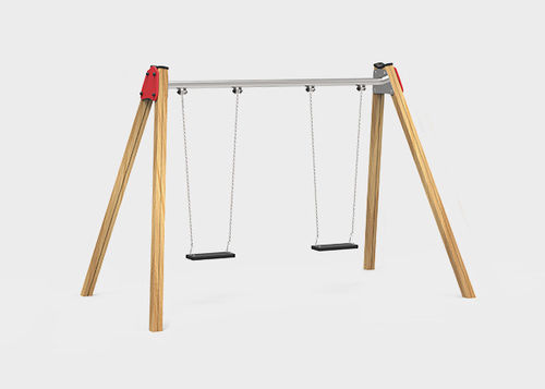 wooden swing / metal / plastic / playground