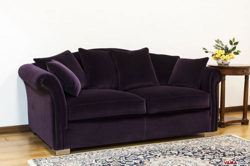 traditional sofa / fabric / 3-seater / 2-person