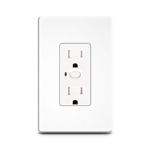 power socket / wall-mounted / polycarbonate / aluminum