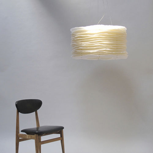 pendant lamp / original design / steel / paper