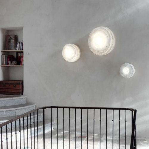 original design wall light / paper / LED / round