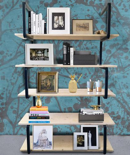 contemporary shelf / steel / commercial