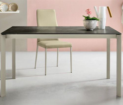 Contemporary dining table / lacquered wood / crystal / aluminum KLASS Castellani.it srl