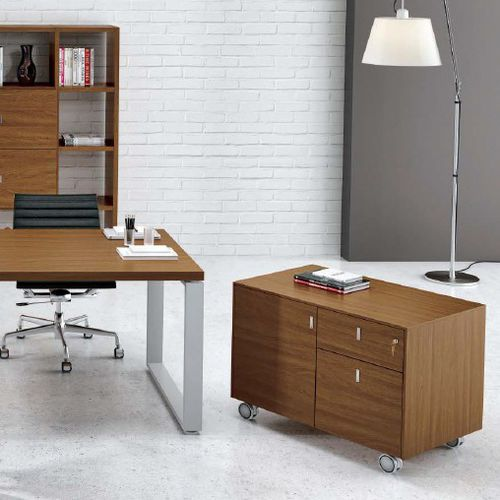 Low filing cabinet / wooden / with hinged door / with drawers ARCHIMEDE : CC7621 Castellani.it srl