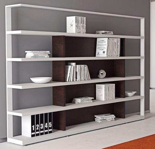 modular shelf / contemporary / melamine / commercial