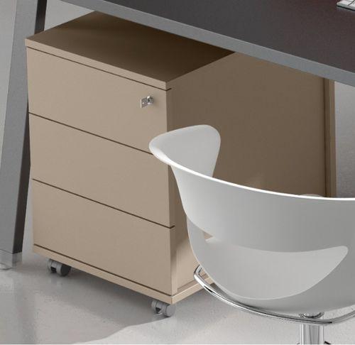 Metal office unit / wooden / melamine / 3-drawer ODEON : CC7130 Castellani.it srl
