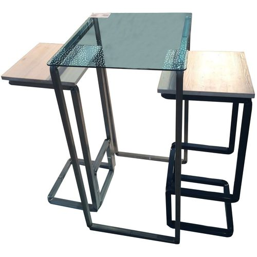 Contemporary table and chair set / wooden / metal / glass H_CONVERSATION Castellani.it srl