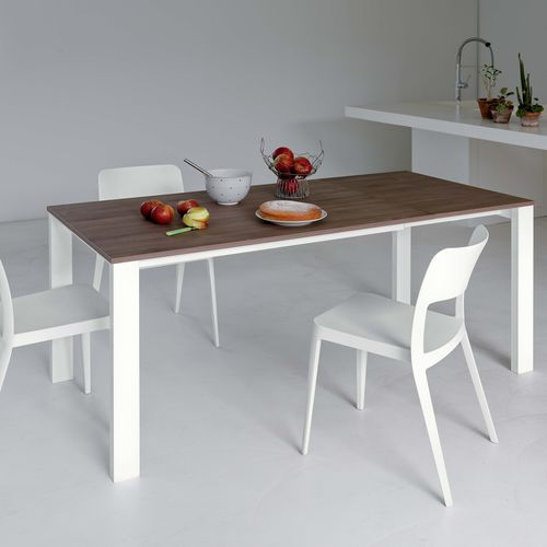 Contemporary dining table / lacquered wood / glass / steel BADÙ Castellani.it srl